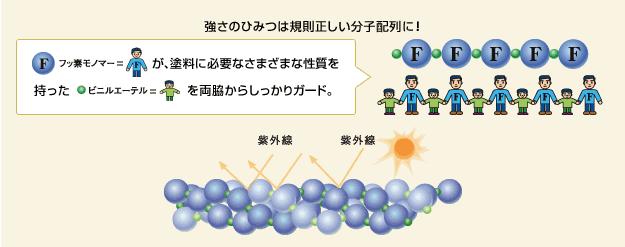 強さの秘密は規則正しい分子配列